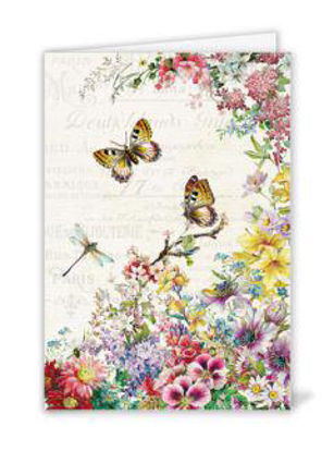 Flowers and Butterflies (o.T.) Doppelkarte 11,5x16,7 cm mit Couvert B6