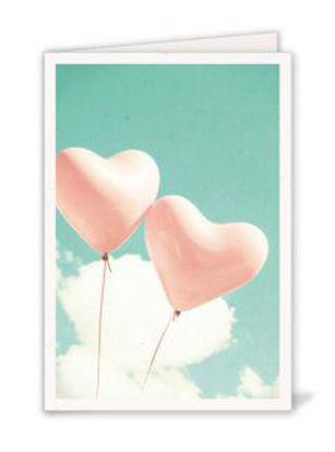 Heart Balloons (o. T.)Doppelkarte 11,5x16,7 cm mit Couvert B6