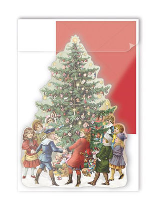 Christmas (o. T. ), Gestanzte PK 10,5x14,8 m. rotem Couvert