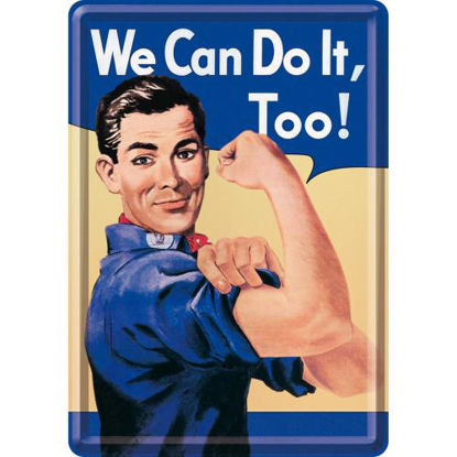 We Can Do It Too!, USA Metal Card, 14x0x10 cm/A400
