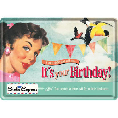It's Your Birthday!, Say it 50's Metal Card, 14x0x10 cm/A400