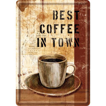 Best Coffee in Town, Coffee & Chocolate Metal Card, 14x0x10 cm/A400