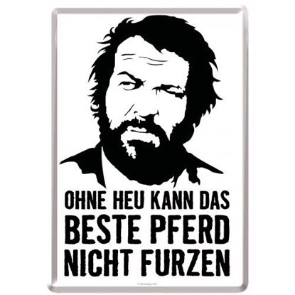 Bud Spencer - Weisheit SMILE / Metal Card 10x14 / A400
