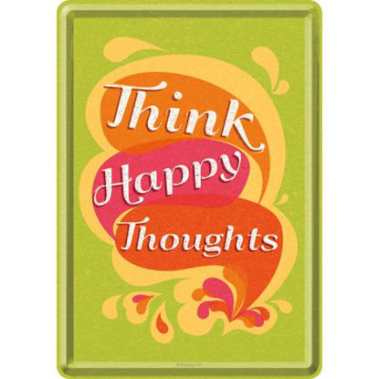 Think Happy Thoughts, Word Up Metal Card, 14x0x10 cm/A400