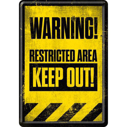 Restricted Area - Keep Out!, AchtungMetal Card, 14x0x10 cm/A400