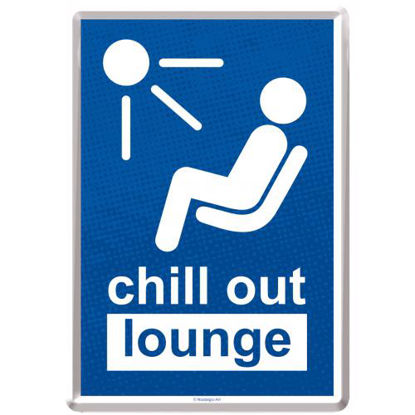 Chill Out Lounge, Achtung Metal Card, 14x0x10 cm/A400