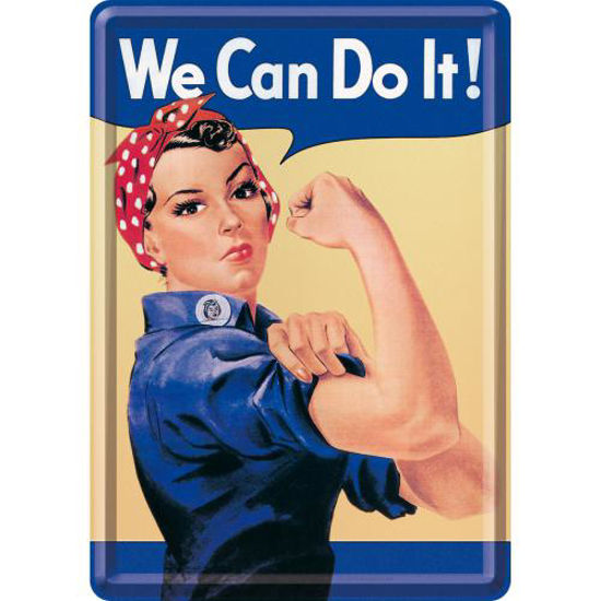 We can do it, USA Metal Card, 14x0x10 cm/A400