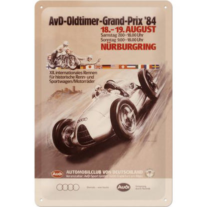 Audi AvD Oldtimer Grand Prix, TraditionaTin Sign 20 x 30cm/A402