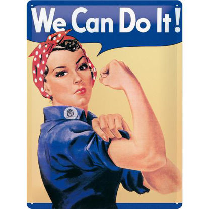 We can do it, USA Tin Sign 30 x 40cm/A403