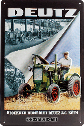 Deutz Klöckner, Farmlands, Tin Sign 20 x 30cm/A402