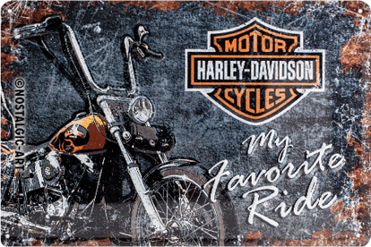 Harley-Davidson Favourite Ride, Harley-D, Tin Sign 20 x 30cm/A402