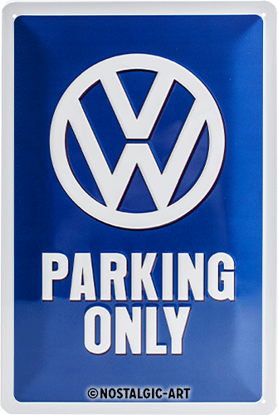 VW Parking Only, Volkswagen, Tin Sign 20 x 30cm/A402