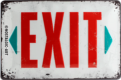 Exit, Achtung, Tin Sign 20 x 30cm/A402