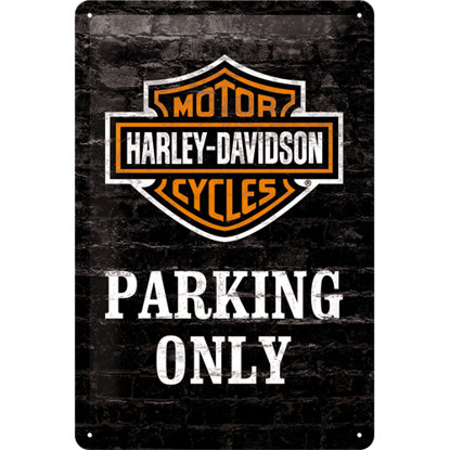 Harley-Davidson Parking Only, Harley-Dav, Tin Sign 20 x 30cm/A402