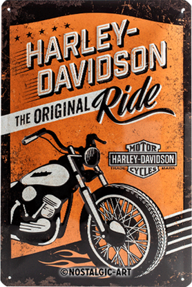 Harley-Davidson The Original Ride, Harle, Tin Sign 20 x 30cm/A402