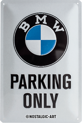 BMW - Parking Only White, BMW, Tin Sign 20 x 30cm/A402