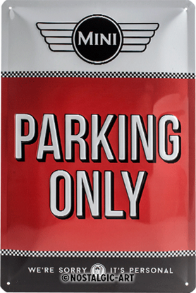 Mini - Parking Only Red, Mini, Tin Sign 20 x 30cm/A402