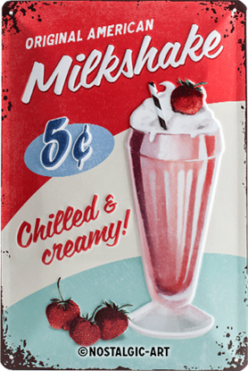 Milkshake, USA, Tin Sign 20 x 30cm/A402