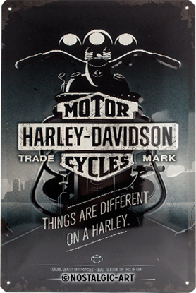 Harley-Davidson - Things Are Different,, Tin Sign 20 x 30cm/A402