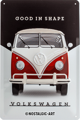 VW - Good In Shape, Volkswagen, Tin Sign 20 x 30cm/A402