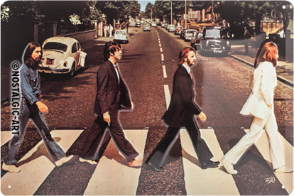 Fab4 - Abbey Road, Celebrities, Tin Sign 20 x 30cm/A402