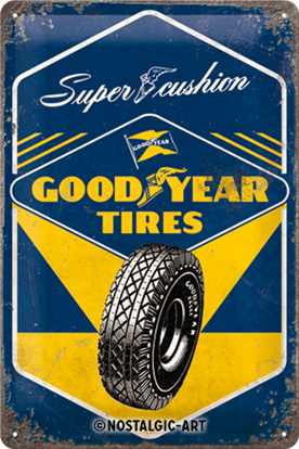 Goodyear - Super Cushion, Goodyear, Tin Sign 20 x 30cm/A402