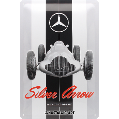 Mercedes-Benz - Silver Arrow, Mercedes-B, Tin Sign 20 x 30cm/A402