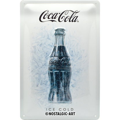 Coca-Cola - Ice White, Coca-Cola, Tin Sign 20 x 30cm/A402