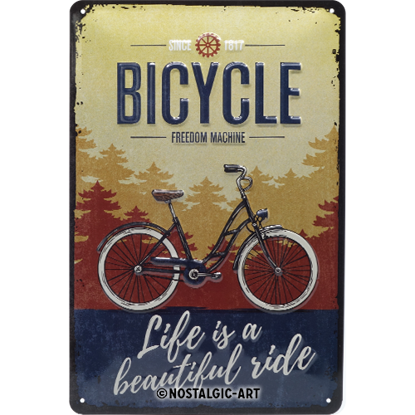 Bicycle - Beautiful Ride, Achtung, Tin Sign 20 x 30cm/A402