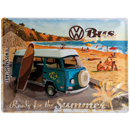 VW Bulli - Ready for the Summer, Volkswa, Tin Sign 30 x 40cm/A403