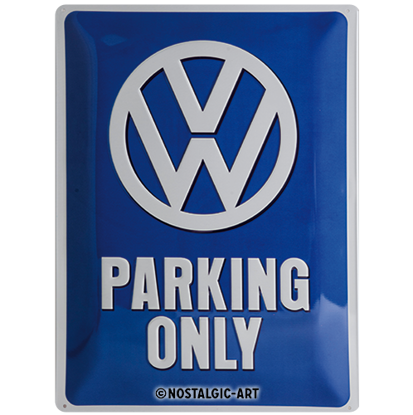 VW Parking Only, Volkswagen, Tin Sign 30 x 40cm/A403