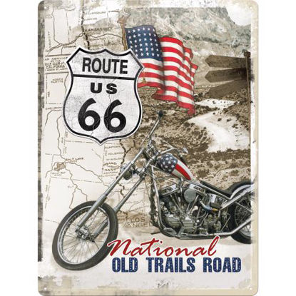 Route 66 Old Trails Road, US Highways, Tin Sign 30 x 40cm/A403