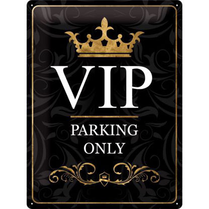 VIP Parking Only, Achtung, Tin Sign 30 x 40cm/A403