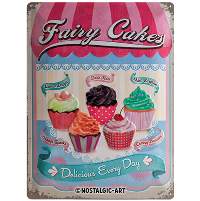 Fairy Cakes - Cup Cakes, Home & Country, Tin Sign 30 x 40cm/A403