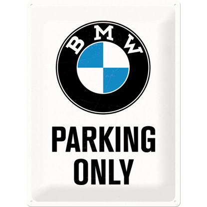BMW - Parking Only White, BMW, Tin Sign 30 x 40cm/A403