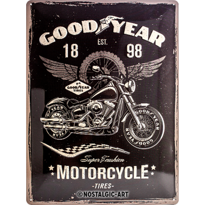 Goodyear - Motorcycle, Goodyear, Tin Sign 30 x 40cm/A403