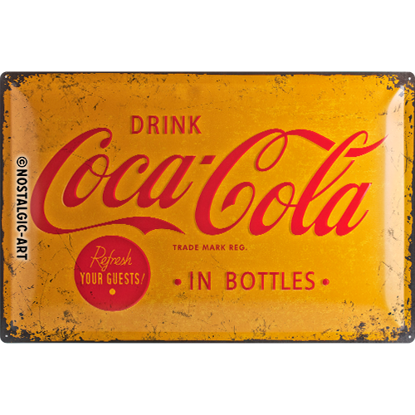 Coca-Cola Yellow Logo, Coca-Cola, Tin Sign 40 x 60cm/A403