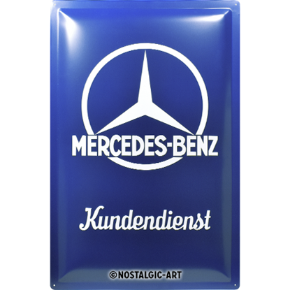Mercedes-Benz - Kundendienst, Mercedes-B, Tin Sign 40 x 60cm/A403