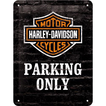 Harley-Davidson Parking Only, Harley-Dav Tin Sign 15 x 20cm