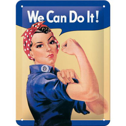 We can do it, USA Tin Sign 15 x 20cm
