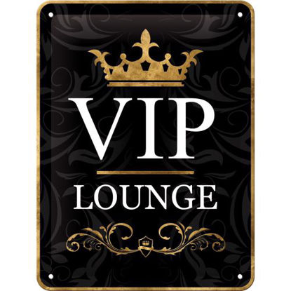 VIP Lounge, Achtung Tin Sign 15 x 20cm