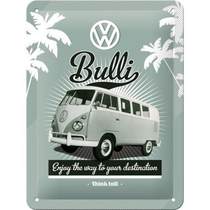 VW Retro Bulli, Volkswagen Tin Sign 15 x 20cm