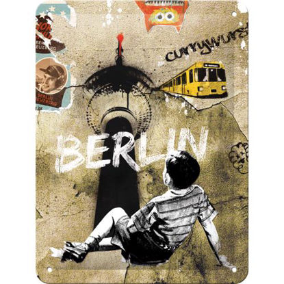 Berlin Street Art, BerlinTin Sign 15 x 20cm