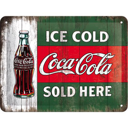 Coca-Cola - Ice Cold Sold Here, Coca-Col Tin Sign 15 x 20cm