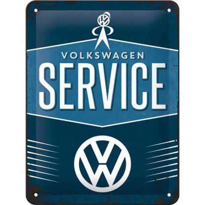 VW Service, Volkswagen Tin Sign 15 x 20cm
