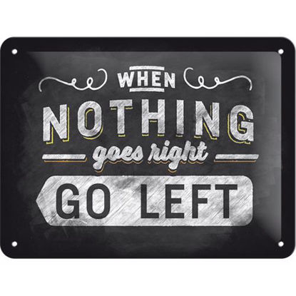Go left, Word Up Tin Sign 15 x 20cm