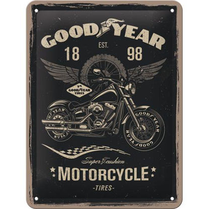 Goodyear - Motorcycle, Goodyear Tin Sign 15 x 20cm