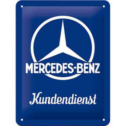 Mercedes-Benz - Kundendienst, Mercedes-B Tin Sign 15 x 20cm