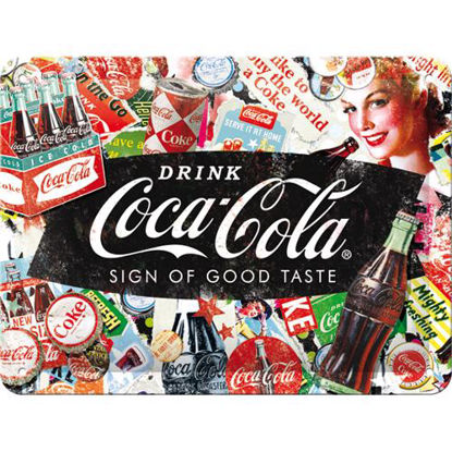 Coca-Cola - Collage, Coca-Cola Tin Sign 15 x 20cm