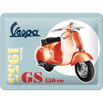 Vespa - GS 150 Since 1955, Vespa Tin Sign 15 x 20cm